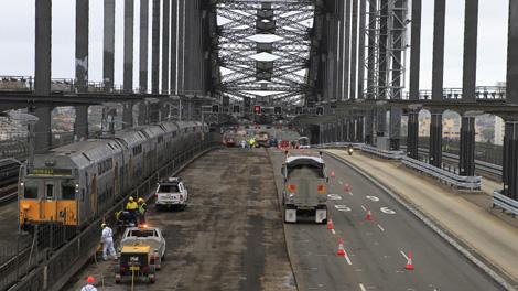 Sydney Harbour Bridge Resurfacing